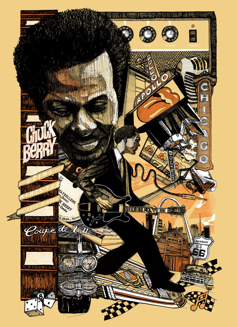 Chuck Berry by kytid