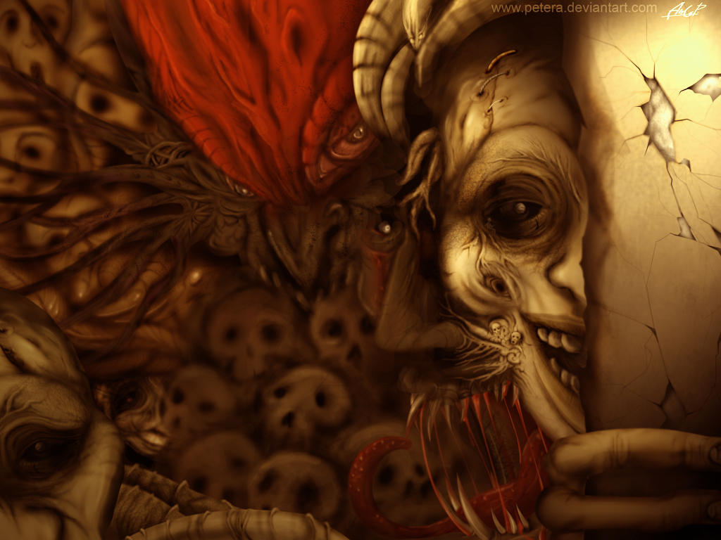 16. Weird Horror Monster Macabre Wallpaper