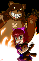 Annie and Tibbers! by KingJNar