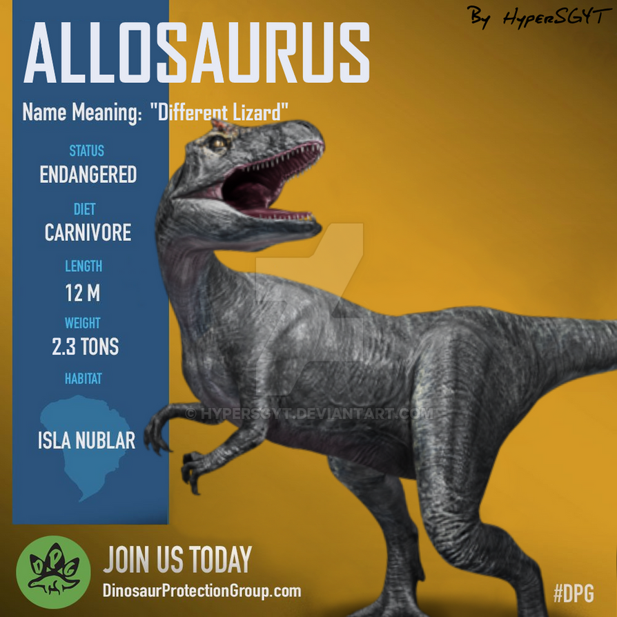Allosaurus DPG JWFK by HyperSGYT on DeviantArt