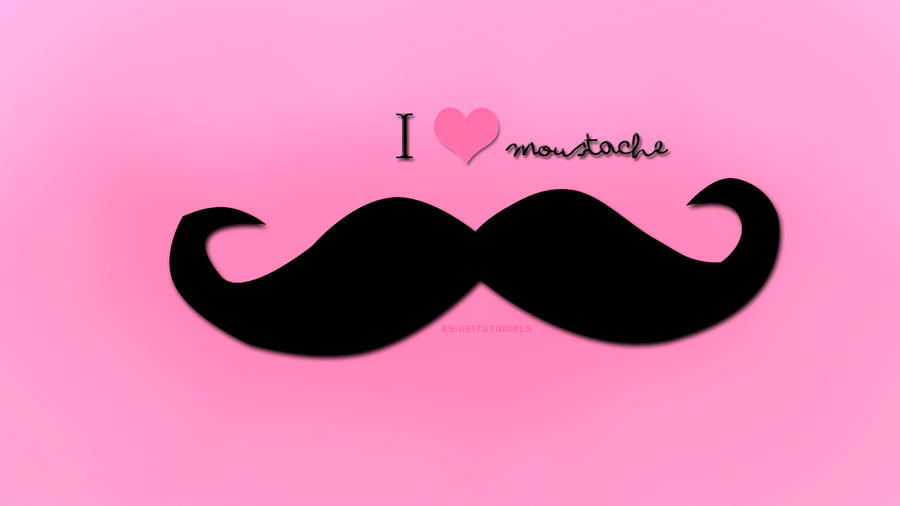 wallpaper i love moustache by chicastecnologicas21 on