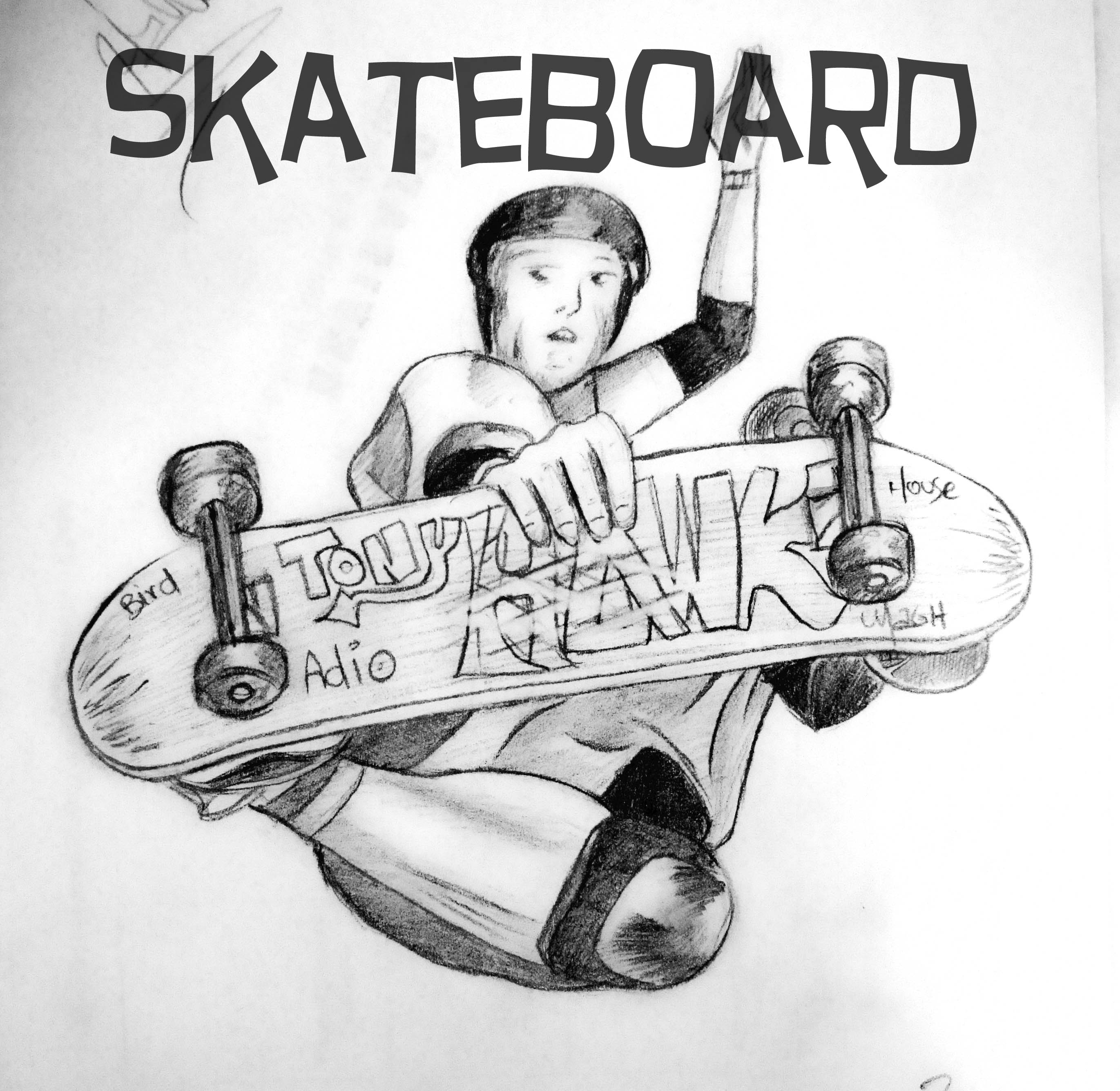 how to draw on a skateboard