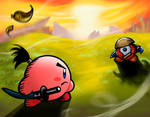 kirby dueling in Combat