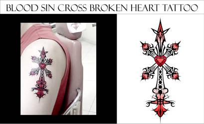 Blood Sin Cross Heart Broken by amadis33