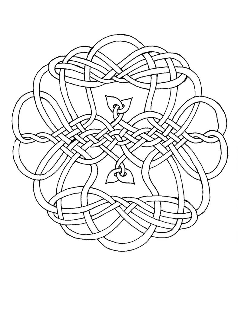 celtics coloring pages - celtic coloring circle i by artistfire on deviantart