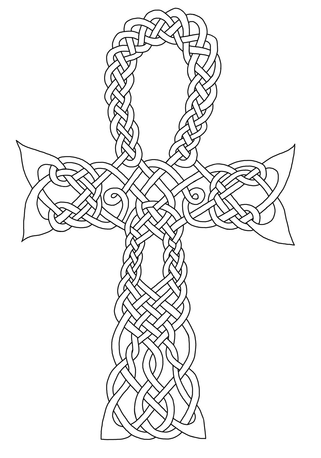 Celtic Ahnk Re-Created (Coloring) by Artistfire on DeviantArt
