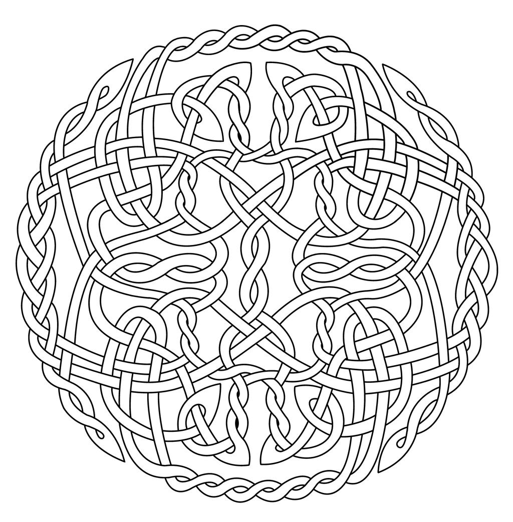Celtic Sun Colouring Pages