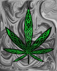 Celtic Cannabis Leaf #1