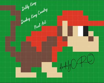 Diddy Kong - Donkey Kong Country - Pixel Art