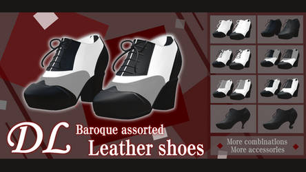 DL-MMD SHOES-Baroque assorted  Leather shoes by H2CUAX