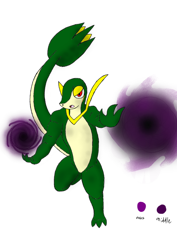 Snivy~(test subject #1) by 100-playerpower