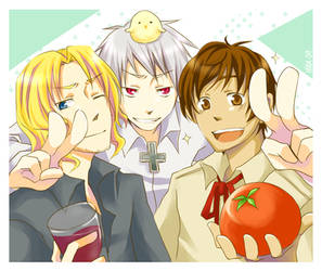 APH : BadFriendTrio for Laphy by glaceau