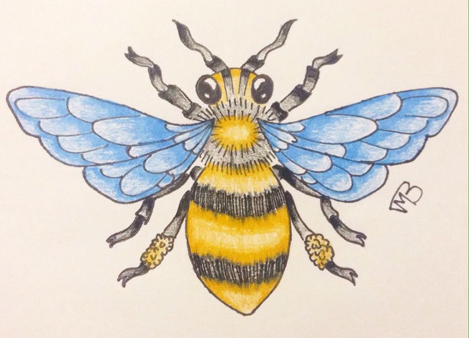 Honey Bee Tattoo Design by ScenePika on DeviantArt
