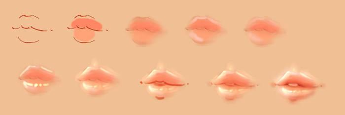 How I do Lips by JustNeus