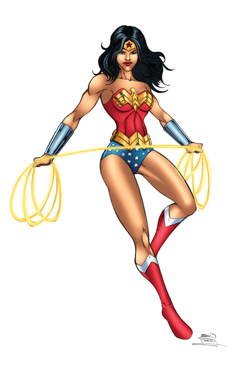Wonder Woman color by seanforney