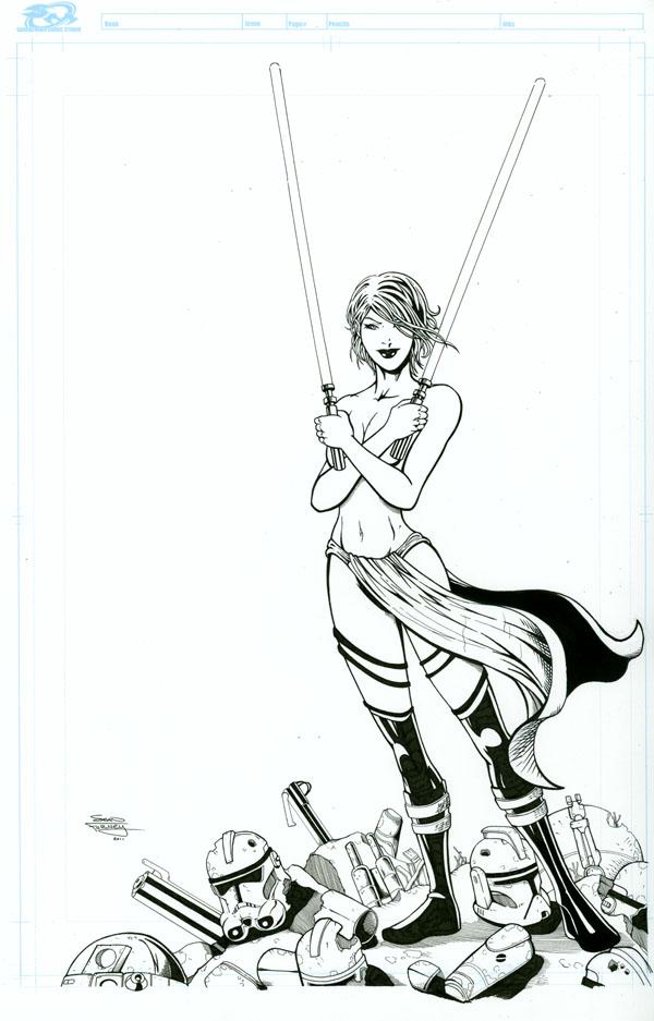 Dark Jedi inks by seanforney
