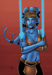 Aayla Secura colors by seanforney