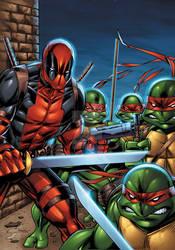 Deadpool and Ninja Turtles colors by seanforney