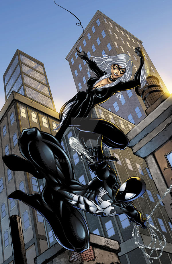Spiderman Black Costume And Blackcat Colors By Seanforney On Deviantart