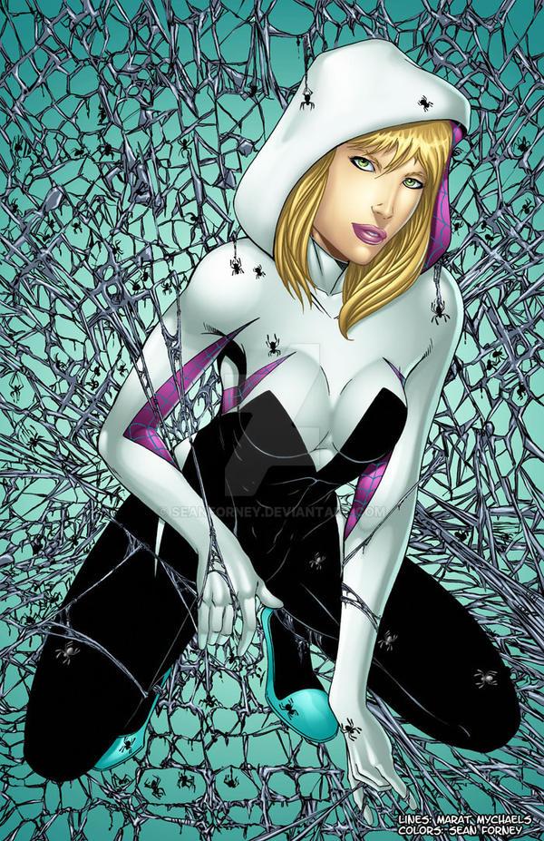 Marat's Spider-Gwen colors by seanforney