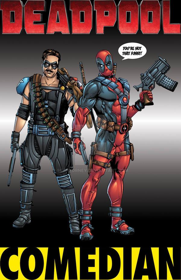 Deadpool and the Comedian colors by seanforney