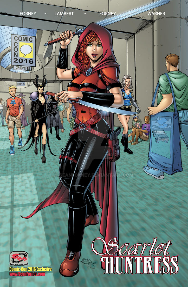 Scarlet Huntress SDCC Collected Edition Cover by seanforney