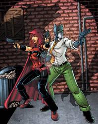 Scarlet Huntress and  Blacksad
