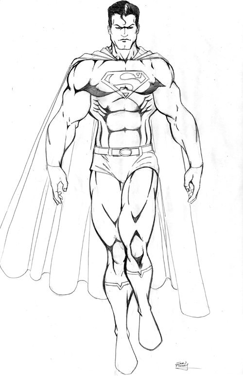 how to draw superwoman s