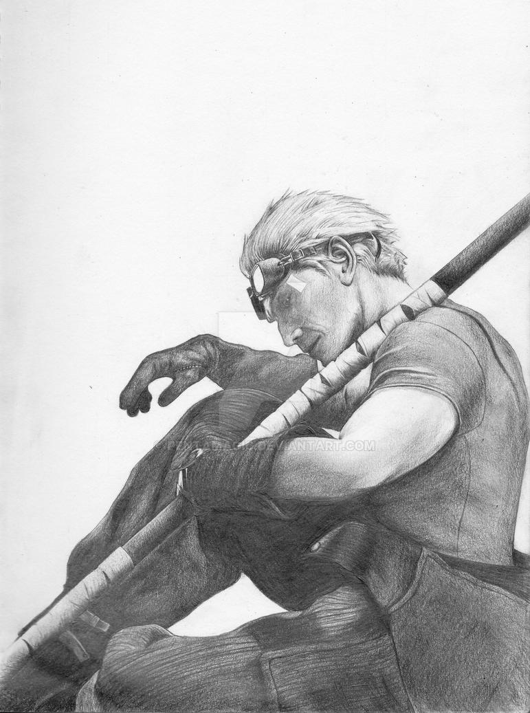 Cid Highwind Sketch by PentaMagic