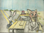 Nick and Judy as Road Warriors (100th special)