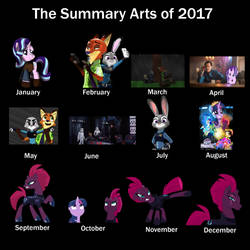 the Summary of Arts of 2017 by EJLightning007arts