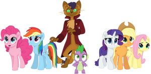 Mane 5, Spike and Capper by EJLightning007arts