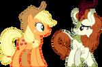 Applejack And Autumn Blaze