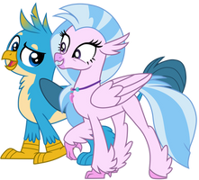 Gallus and Silverstream by EJLightning007arts