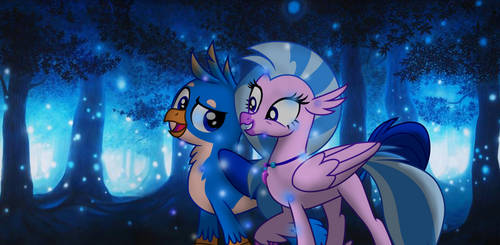 Gallus and Silverstream Love Art (TEXTLESS) by EJLightning007arts