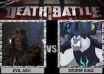 DEATH BATTLE Evil Ash vs Storm King
