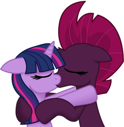 Twilight and Fizzlepop kissing (Vector) by EJLightning007arts
