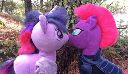 Kissing under the tree (Stuffy Version) by EJLightning007arts