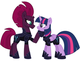 Tempest and Twilight in Storm Army Armor (Alt)