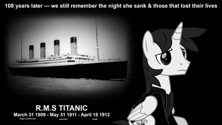 Remembering Titanic (108 years later) by EJLightning007arts