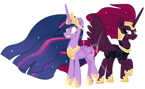 Tempest spanks Twilight's Flank (years later)