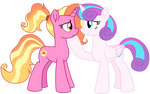 Luster Dawn and Flurry Heart (Vector)