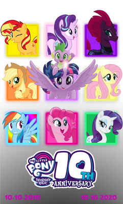 MLP's 10th Anniversary Poster