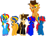 EJ and his Mane 6 (Vector) by EJLightning007arts