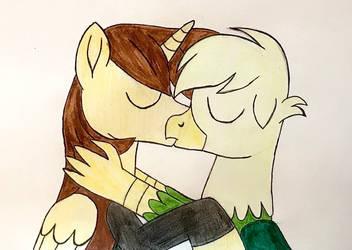 EJgory gay kissing (hand drawn)