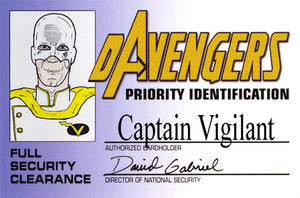 DAvengers Card - Capt Vigilant by ratwood42
