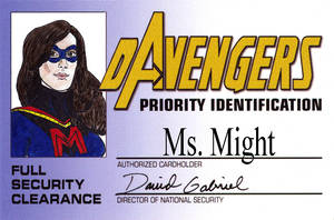 DAvengers Card - Ms. Might by ratwood42