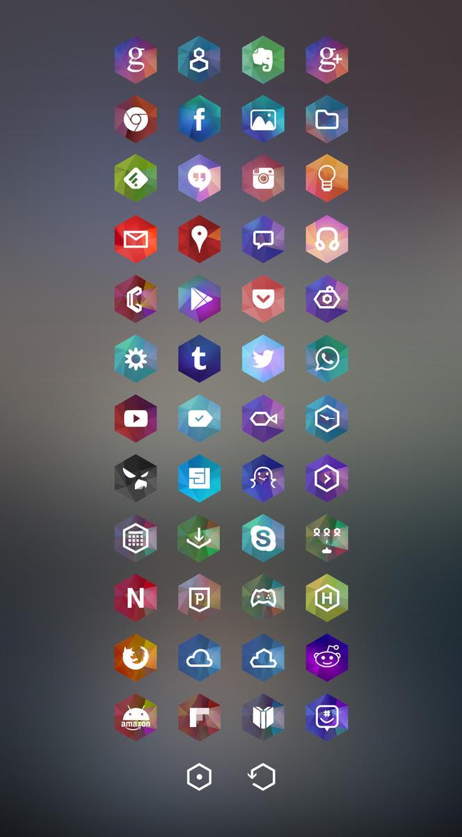 Hexagon Android Theme by Drugi