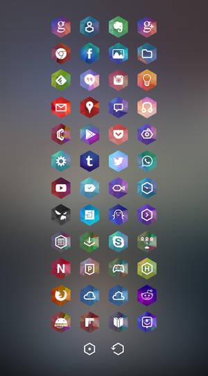 Hexagon Android Theme