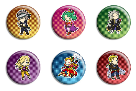 Final Fantasy VI Buttons by Maxx-V
